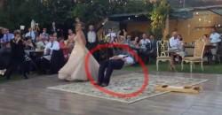 Dieser Ehemann schwebt beim Hochzeitstanz!