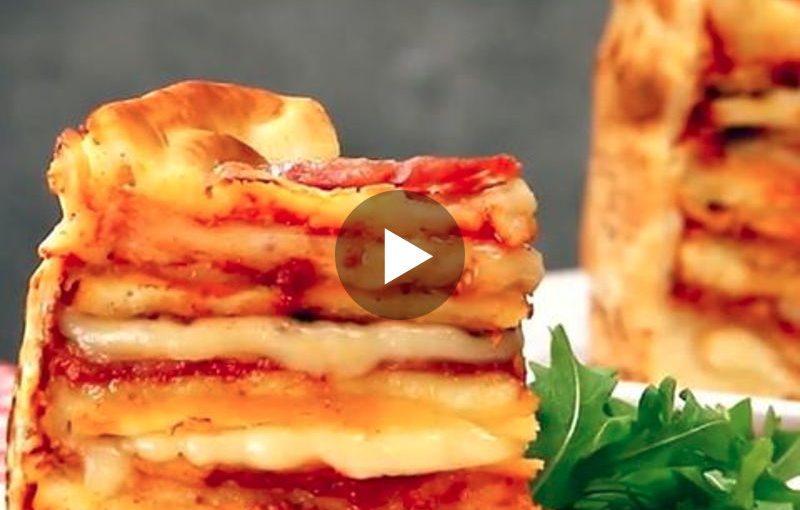 Hochstapler: Wie diese 3-fache Pizza zum Renner wird